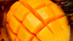 Fresh raw tropical fruits Stock Footage
