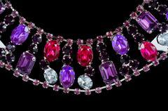 pendant closeup with big gem - stock photo