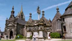 Parish Close - Guimiliau France - stock footage