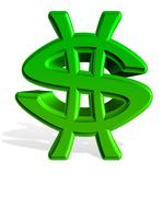 Dollar isolated - stock illustration
