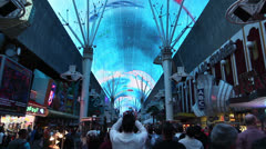 Light Show at Fremont Street Experience featuring Freddie Mercury, Las Vegas Stock Footage