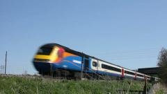 East Midlands High Speed Train HST 125 diesel express - stock footage