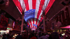 Light Show at Fremont Street Experience featuring Queen, Las Vegas Stock Footage