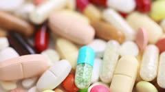 medicine spinning slowly - stock footage