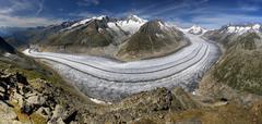 aletsch glacier - swiss alps - stock photo