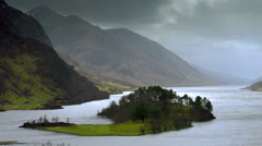 Loch Shiel Pan right Stock Footage