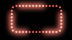 Red Chaser Lights ALPHA Stock Footage