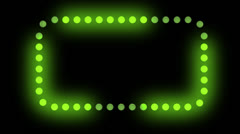 Green Chaser Lights ALPHA Stock Footage
