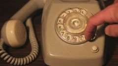 Dialing a number, Closeup Stock Footage
