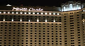 Close Up of Monte Carlo Hotel Sign, Las Vegas - Night Footage