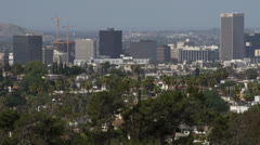 Central Los Angeles skyline Stock Footage