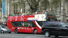 "A ""The Original Tour"" tourist bus London, UK. Stock Footage"