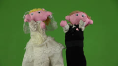 Wedding dance puppets Stock Footage