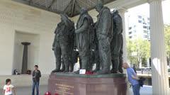 The Bomber Command Memorial, Green Park, Hyde Park Corner, London, UK. Stock Footage