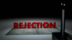 Stock Video Footage of Rejection sign
