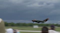 MiG 17 Landing 24 1S Stock Footage