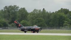 MiG 17 Taxiing 30 1 Stock Footage