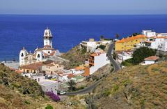 Town of Candelaria at Tenerife Stock Photos