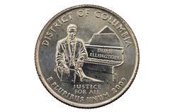 district of columbia quarter - stock photo