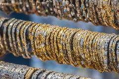 Gold Bracelets. Stock Photos