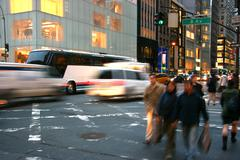 5th avenue, manhattan, new york - stock photo