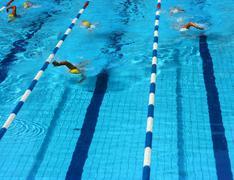 Pool lanes vertical Stock Photos
