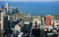 Chicago Millennium Park antenni panoraama Kuvituskuvat