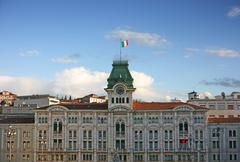 Trieste city hall Stock Photos