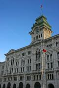trieste city hall - stock photo