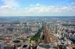 montparnasse station aerial view - stock photo