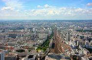 Stock Photo of montparnasse station aerial view