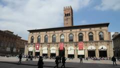 Piazza Maggiore, Bologna Stock Footage