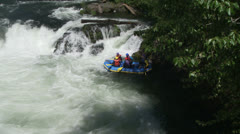 rafters, river, whitewater - stock footage