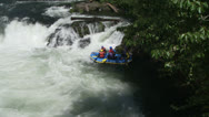 Stock Video Footage of rafters, river, whitewater
