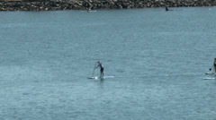 Paddleboards and kayak Stock Footage