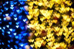 blurred of heart shape christmas light - stock photo