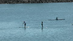 Paddle board group Stock Footage