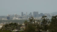 Hollywood skyline in the distance Stock Footage