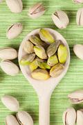 pistachio nuts - stock photo
