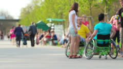 Wheelchair - stock footage