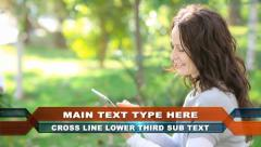 Cross Line Lower Third - stock after effects