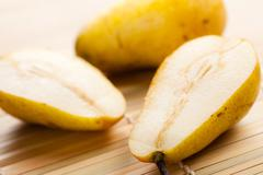 Yellow pear Stock Photos