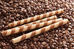 Coffee rolls Stock Photos