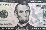 Stock Illustration of Lincoln Five Dollar Bill