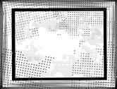 Black grunge border frame on white background Stock Illustration