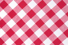 White and red checkered pattern Stock Photos