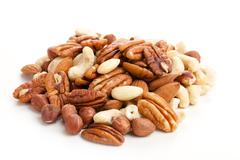 Various nuts Stock Photos