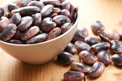 Beans in bowl Stock Photos