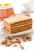 Stock Photo of honey cake