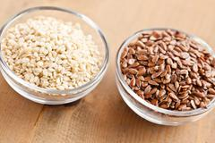 Sesame and linseed Stock Photos